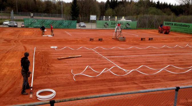 Sanierung der Tennisplätze